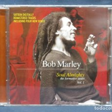 CDs de Música: BOB MARLEY - SOUL ALMIGHTY - THE FORMATIVE YEARS - VOL.1 - CD. Lote 210662194
