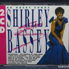 CDs de Música: SHIRLEY BASSEY - 40 GREAT SONGS - 2 CD. Lote 210662829