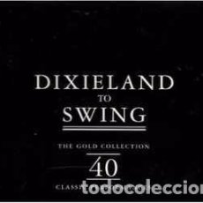 CDs de Música: VARIOUS - DIXIELAND TO SWING THE GOLD COLLECTION (2XCD, COMP) LABEL:RETRO (2) CAT#: R2CD 40-09. Lote 210666429