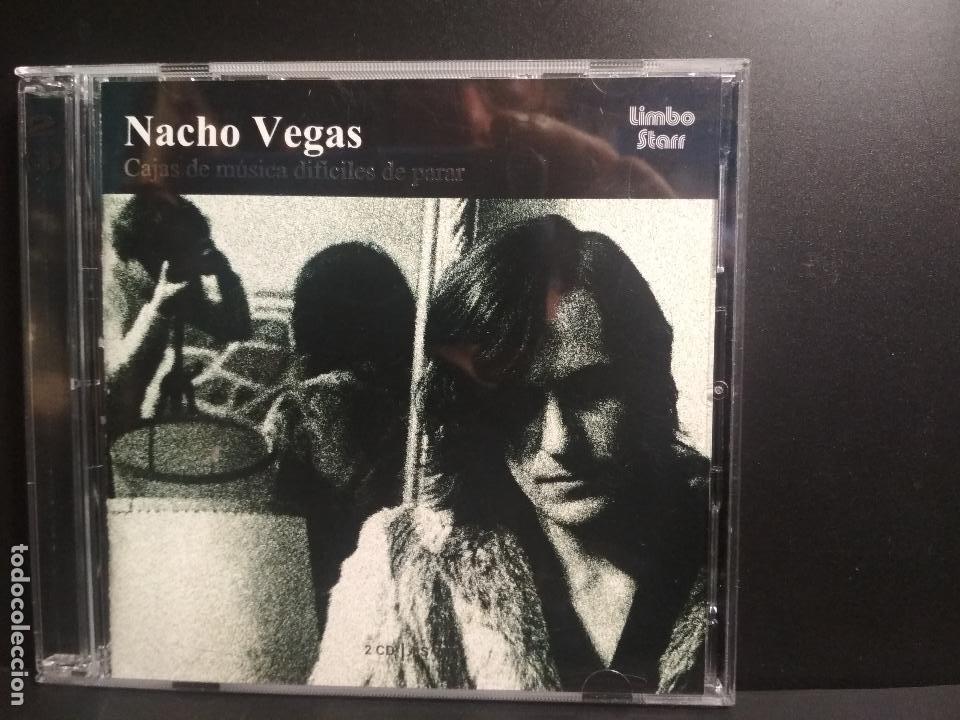 DOBLE CD NACHO VEGAS CAJAS DE MUSICA DIFICILES DE PARAR. COMO NUEVO¡¡ 2003 PEPETO (Música - CD's Rock)