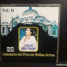 CDs de Música: LOLA BELTRAN: MEXICO LINDO Y QUERIDO VOL 2. CONCIERTO EN VIVO EN BELLAS ARTES (2CD) PEPETO. Lote 210700520