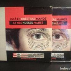 CDs de Música: ESTA EN NUESTRAS MANOS / TA NES NUESES MANES CONTRA LA VIOLENCIA CD VARIOS ASTURIAS PEPETO. Lote 210701482
