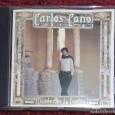 CDs de Música: CARLOS CANO (CUADERNO DE COPLAS) CD 1987. Lote 210701529