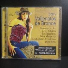 CDs de Música: CD VALLENATOS DE BRONCE VOL. 7 DOBLE CD COMO NUEVO¡¡ PEPETO. Lote 210701599