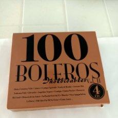 CDs de Música: 100 BOLEROS INOLVIDABLES VOL.2 4CD. Lote 210726972