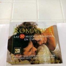 CDs de Música: ROMANCE LAS 30 MEJORES BALADAS 2 CD. Lote 210728960