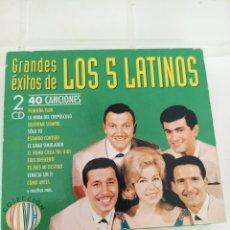 CDs de Música: LOS 5 LATINOS GRANDES EXITOS 2 CD. Lote 210729149