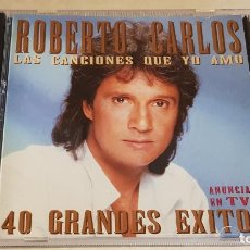 CDs de Música: ROBERTO CARLOS / LAS CANCIONES QUE YO AMO / 40 GRANDES ÉXITOS / DOBLE CD-EPIC / DE LUJO.. Lote 210744454
