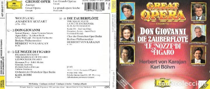 GREAT OPERA - MOZART - LIMITED EDITION (Música - CD's Clásica, Ópera, Zarzuela y Marchas)