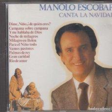CDs de Música: MANOLO ESCOBAR CANTA LA NAVIDAD CD 1990 DIVUCSA. Lote 210813156