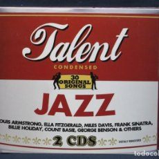CDs de Música: VARIOS - TALENT CONDENSED - JAZ - 2 CD. Lote 210828456