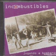 CDs de Música: INCOMBUSTIBLES CD JUGANDO A BOMBEROS 2000 SALSETA DISCOS ESTILO MANOLO GARCÍA ÚLTIMO DE LA FILA. Lote 210975890