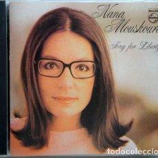 CDs de Música: CD NANA MOUSKOURI : SONG FOR LIBERTY ( TEMAS DE LEONARD COHEN, JOHN DENVER, BOB DYLAN, VERDI, ETC. Lote 210977340