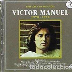 CDs de Música: TRES LP'S EN 2 CD'S 1970-1974 - VICTOR MANUEL - 2 CD. Lote 211007011