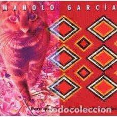 CDs de Música: PARA QUE NO SE DUERMAN MIS ... - MANOLO GARCÍA - 1 CD. Lote 211084669