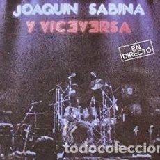 CDs de Música: EN DIRECTO - JOAQUÍN SABINA, VICEVERSA - 2 CD. Lote 211182861