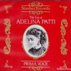 CDs de Música: THE ERA OF ADELINA PATTI - NIMBUS RECORDS / PRIMA VOCE - 2XCD. Lote 211264782