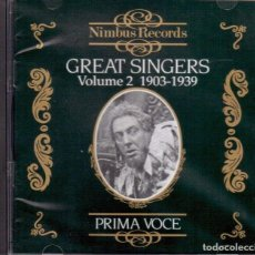 CDs de Música: GREAT SINGERS VOL. 2 / PRIMA VOCE / NIMBUS RECORDS CD. Lote 211267106