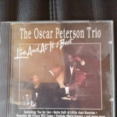 CDs de Música: THE OSCAR PETERSON TRIO - LIVE AND AT HIS BEST. Lote 211268275