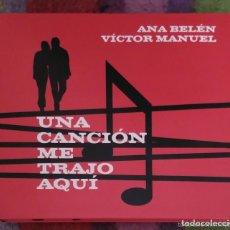 CDs de Música: ANA BELEN Y VICTOR MANUEL (UNA CANCIÓN ME TRAJO AQUI) DIGIPACK CD + DVD 2005. Lote 211272726