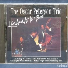 CDs de Música: THE OSCAR PETERSON TRIO - LIVE AND AT IT´S BEST - CD. Lote 211414510