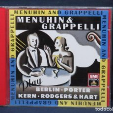 CDs de Música: MENUHIN & GRAPPELLI - PLAY BERLIN, KERN, PORTER AND RODGERS & HART - CD. Lote 211421636