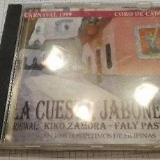 CDs de Música: G-14 CD CD CARNAVAL DE CADIZ CD LA CUESTA JABONERIA KIKO ZAMORA FALY PASTRANA. Lote 211438759