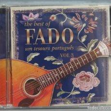 CDs de Música: CD. THE BEST OF FADO. UM TESORO PORTUGUES. VOL. 3. Lote 211440194