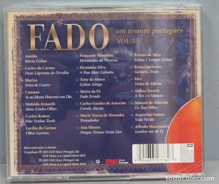 CDs de Música: CD. THE BEST OF FADO. UM TESORO PORTUGUES. VOL. 3 - Foto 2 - 211440194