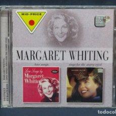 CDs de Música: MARGARETT WHITING LOVE SONGS / SINGS FOR THE STARRY EYED - CD. Lote 211495220