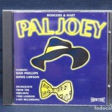 CDs de Música: RODGERS & HART - PAL JOEY - CD. Lote 211505345