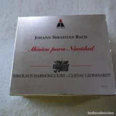 CDs de Música: NIKOLAUS HARNONCOURT / GUSTAV LEONHARDT - BACH: WEIHNACHTSORATORIUM Y CHRISTMAS CANTATAS - LIBRO+5CD. Lote 211508964