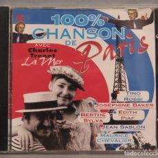 CDs de Música: CD. 100% CHANSONS DE PARIS. Lote 211517855
