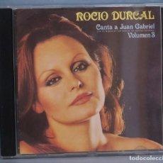 CDs de Música: CD. ROCIO DURCAL. CANTA A JUAN GABRIEL. VOLUMEN 3. Lote 211518534