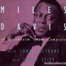 CDs de Música: MILES DAVIS QUINTET - IN STOCKHOLM 1960 (4 CD) - (CD NUEVO). Lote 211537812