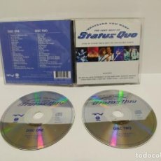 CDs de Música: STATUS QUO - WHATEVER YOU WANT THE VERY BEST OF 2 CD´S. Lote 211589399