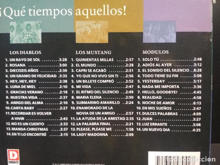 CDs de Música: Que tiempos aquellos, Los Diablos, Los Módulos, Los Mustang, Box triple, TRIPLE CD 1999 PEPETO - Foto 8 - 211627375