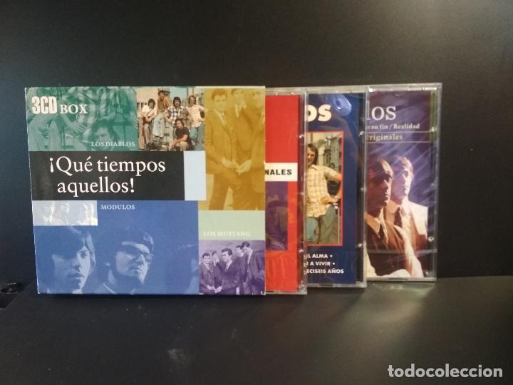 QUE TIEMPOS AQUELLOS, LOS DIABLOS, LOS MÓDULOS, LOS MUSTANG, BOX TRIPLE, TRIPLE CD 1999 PEPETO (Música - CD's Pop)