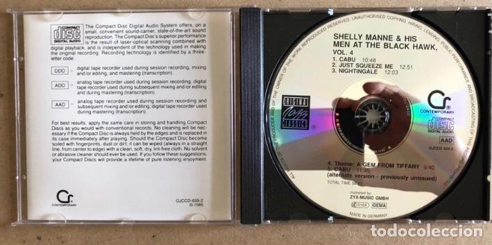 CDs de Música: SHELLY MANNE & HIS MEN AT THE BLACK HAWK VOL. 2, 4 y 5 (ORIGINAL JAZZ CLASSIC 1991). - 3 CDS- - Foto 3 - 211628859