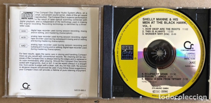 CDs de Música: SHELLY MANNE & HIS MEN AT THE BLACK HAWK VOL. 2, 4 y 5 (ORIGINAL JAZZ CLASSIC 1991). - 3 CDS- - Foto 4 - 211628859