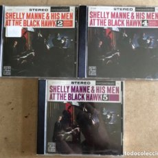 CDs de Música: SHELLY MANNE & HIS MEN AT THE BLACK HAWK VOL. 2, 4 Y 5 (ORIGINAL JAZZ CLASSIC 1991). - 3 CDS-. Lote 211628859