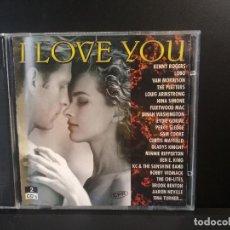 CDs de Música: I LOVE YOU (CD) DINA WASHINGTON, LOUIS ARMSTRONG, LOBO, , SAM COOKE… AÑO – 1995 – DOBLE CD PEPETO. Lote 211659078
