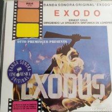 """CDs de Música: BANDA SONORA ORIGINAL """" ÉXODO """" DE ERNEST GOLD DIRIGIENDO ORQUESTA SINFÓNICA DE LONDRES/ CD ORIGINAL. Lote 211659350"""