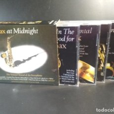 CDs de Música: CAJA BOX SAX AT MIDNIGHT THE SENSUAL SOUND OF THE SAXOPHONE 4 X CDS PEPETO. Lote 211662996