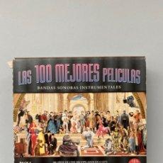 CDs de Música: LAS 100 MEJORES PELÍCULAS. BANDAS SONORAS INSTRUMENTALES. Lote 211669084