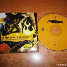CDs de Música: BUNBURY & IVAN FERREIRO & ADRIA PUNTI LADY BLUE CD SINGLE PROMO CARTON 2005 1 TEMA CD ROTO. Lote 211685620