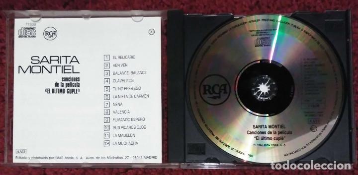 CDs de Música: SARA MONTIEL (EL ULTIMO CUPLE) CD 1987 - Foto 3 - 211701169