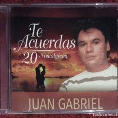 CDs de Música: JUAN GABRIEL (TE ACUERDAS - 20 NOSTALGICAS) CD EDICIÓN USA. Lote 211707084