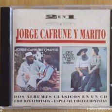CDs de Música: JORGE CAFRUNE Y MARITO (VIRGEN INDIA + DE MI MADRE) CD 1995 SERIE 2 EN 1. Lote 211718860