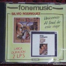 CDs de Música: SILVIO RODRIGUEZ (UNICORNIO - AL FINAL DE ESTE VIAJE) CD 1988 - 2 LP'S LARGA DURACIÓN + REGALO CD. Lote 211718990